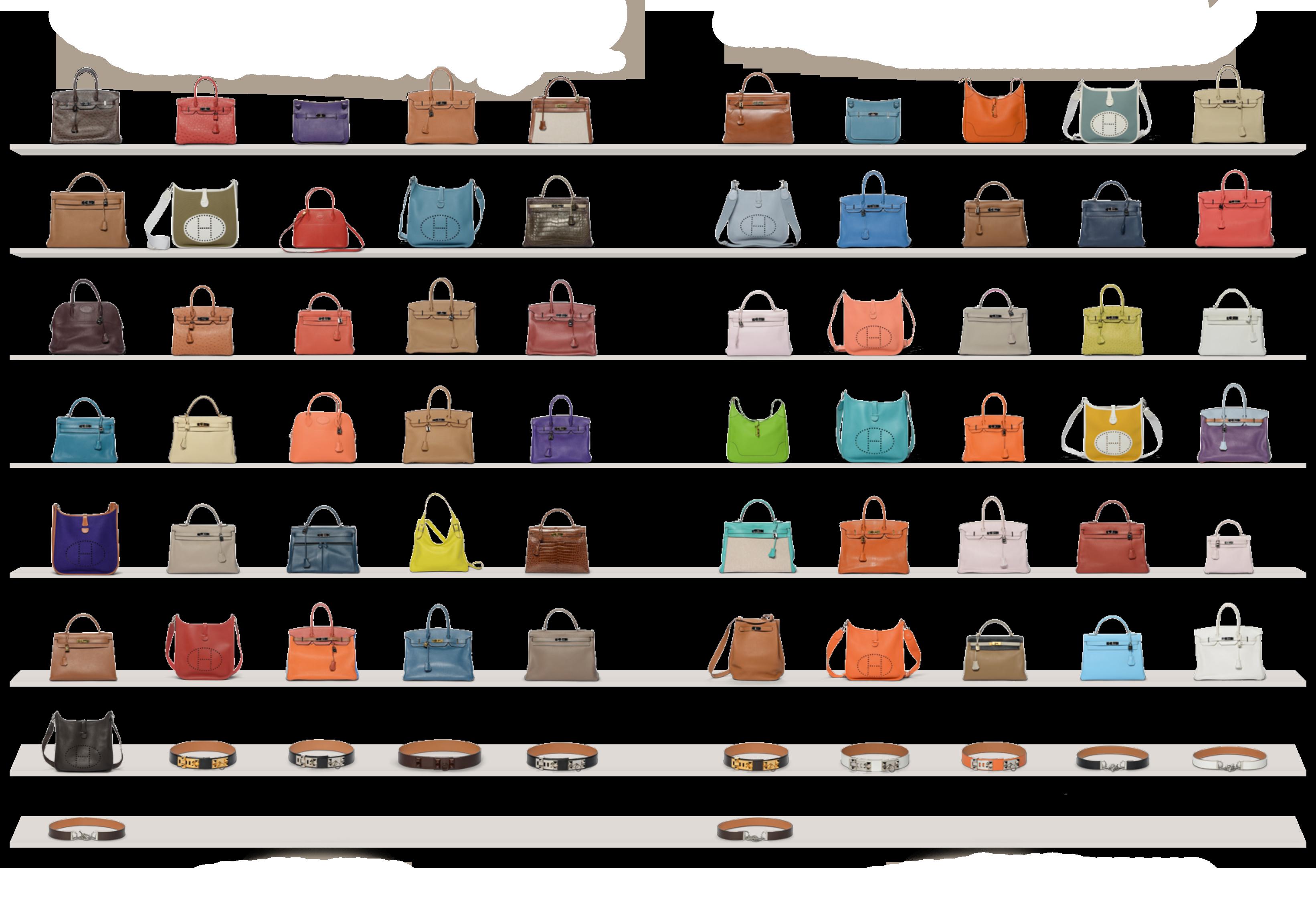 Versteigerung einer Hermés Taschensammlung