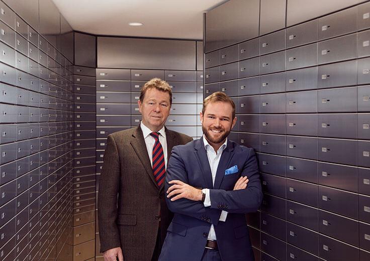 Eppli (Bank-)Schliessfaecher - Familienunternehmer Franz und Ferdinand. B. Eppli