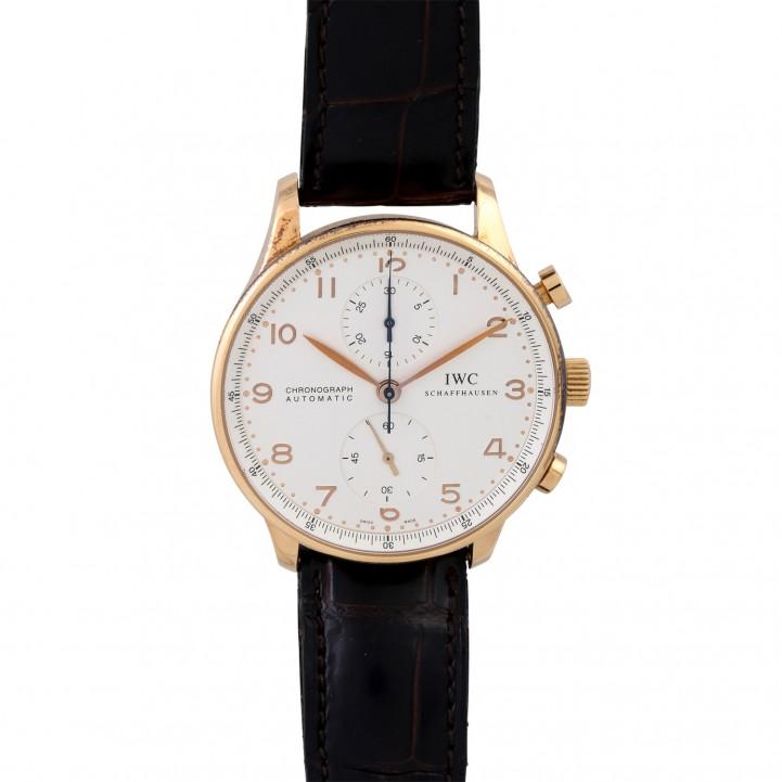 IWC Portugieser Chronograph, Ref. 3714. Armbanduhr. Ca. 2000er Jahre.