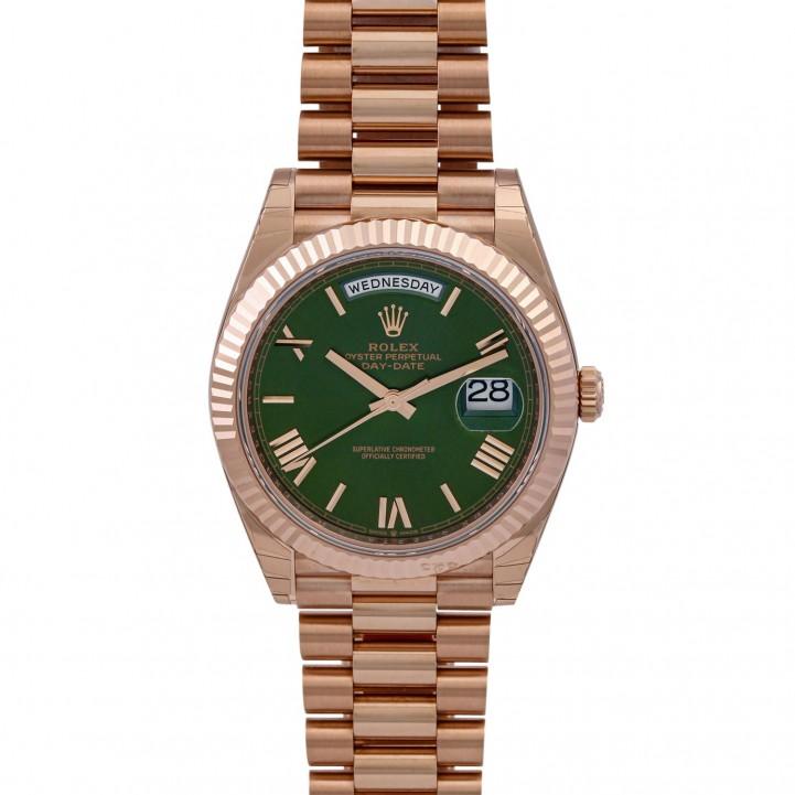 ROLEX DayDate 'Olive', Ref. 228235-0025. Armbanduhr.